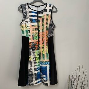 Just Love Floral Sleeveless Front Zipper dress